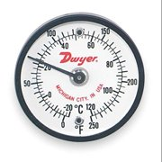 DWYER INSTRUMENTS ST250 Bimetal Thermom,2 In Dial,0 to 250F