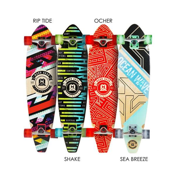 62mm Wheel Great Gift Shake LONGBOARD Skateboard COMPLETE 9 in x 36 in Ages 5+
