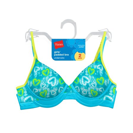 Hanes Girls Padded Underwire Bra - Best-Seller, H126, 30, Tie Dye (Best Bread For Children)