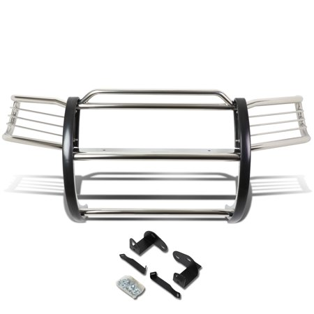 For 2001 to 2004 Ford Escape CD2 Front Bumper Protector Brush Grille Guard (Chrome) 02 03