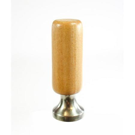 - Wooden Cylinder Lamp Finial Vintage Oak 2.25