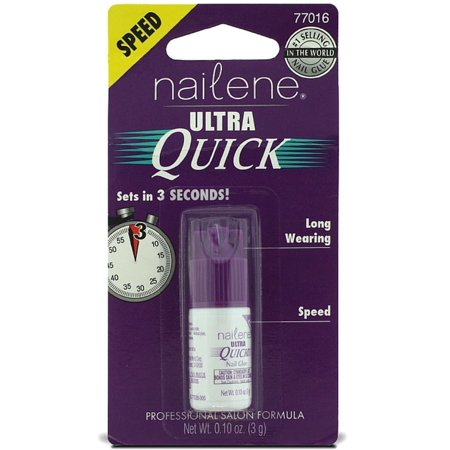 Nailene Ultra Quick Nail Glue 0.10 oz (Pack of 2)