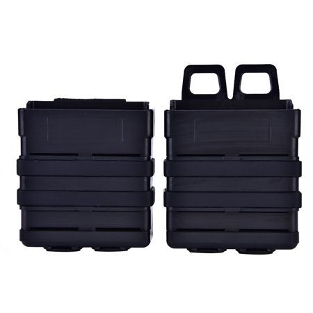 Yosoo Plastic Magazine Pouch Set Holster for Molle System Vest Outdoor Hunting Camping, Magazine Holder, Tactics Accessories