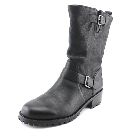 Cole Haan Hemlock Boot Women  Round Toe Leather Black Boot