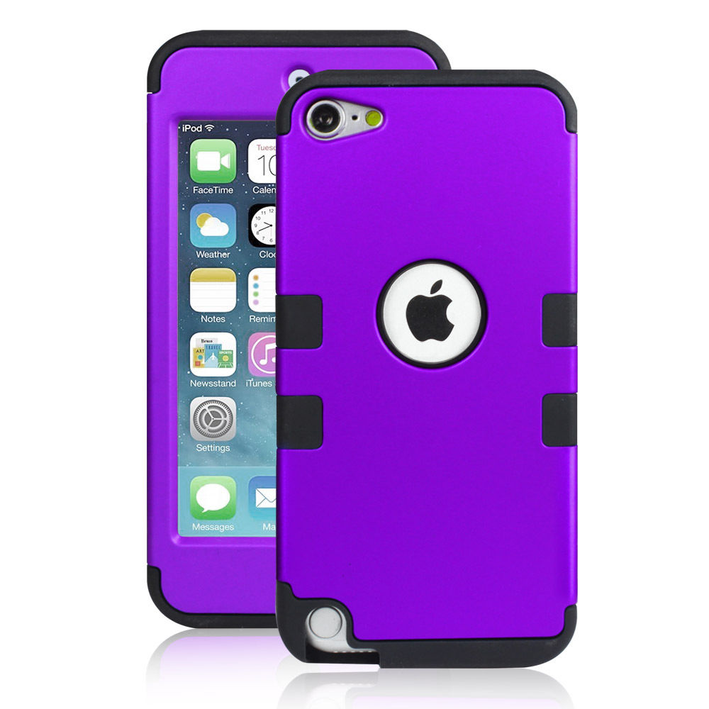 LIVEDITOR Heavy Duty Shock Proof Case Cover for Apple iPod Touch 6G 5th Generation(Purple) - image 6 of 6