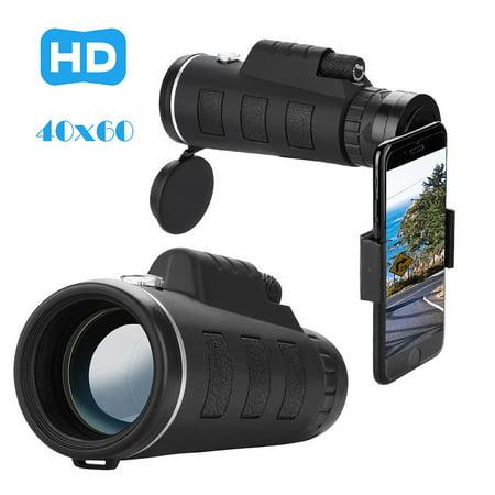 Muxika HD 40x60 Optical Zoom Camera Telescope Lens With Clip For iPhone/Phone (Optical Lenses Uk)