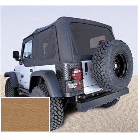 Soft Top, Door Skins, Spice, Tinted Windows, 97-02 Jeep Wrangler (2012 Jeep Wrangler Tinted Soft Top Windows)