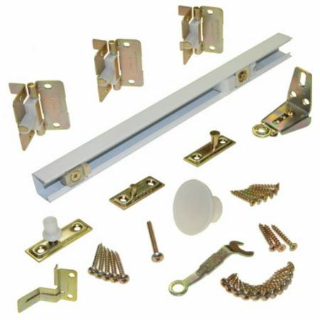 (Johnson Hardware 170W303H Bi-Fold Door Hardware Set, White, 30