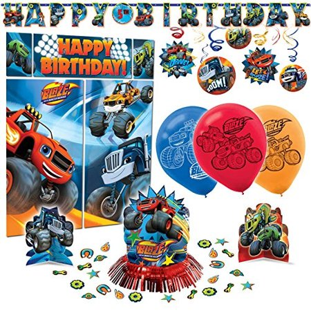 Blaze and The Monster Machines Premium Birthday Party Pack Decoration Kit - Monster High Birthday Theme
