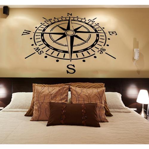 Compass Nautical Vinyl Sticker Wall Art