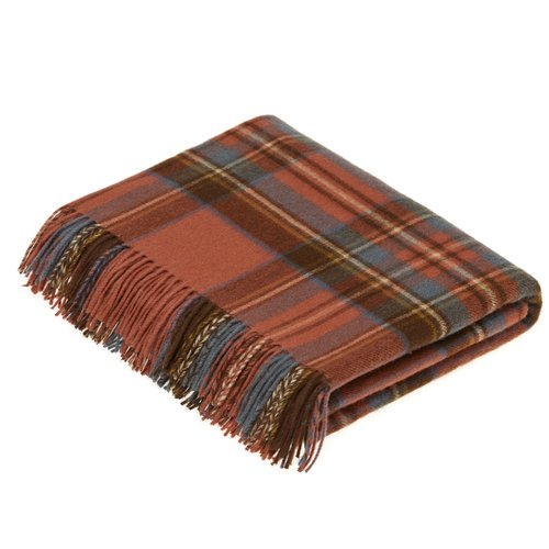 Gracie Oaks Brunell Merino Lambswool Antique Dress Stewart Tartan Throw