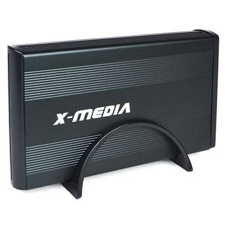 """New 3.5"""" X-Media XM-EN3400-BK USB 2.0 External IDE/SATA HDD Aluminum Enclosure (Black) - Supports up to 4TB!"""
