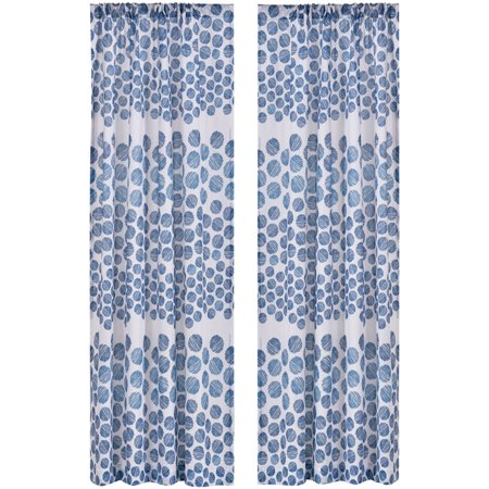 Mainstays Kallie Dots Curtain Panel, Set of 2