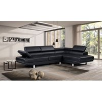 Product Image Harper Bright Designs Modern Faux Leather Sectional Sofa With Adjule Headrest And Functional Armrest