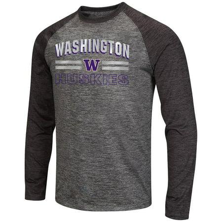 Mens Washington Huskies Raven Long Sleeve Tee Shirt (Ravens Mens Apparel)