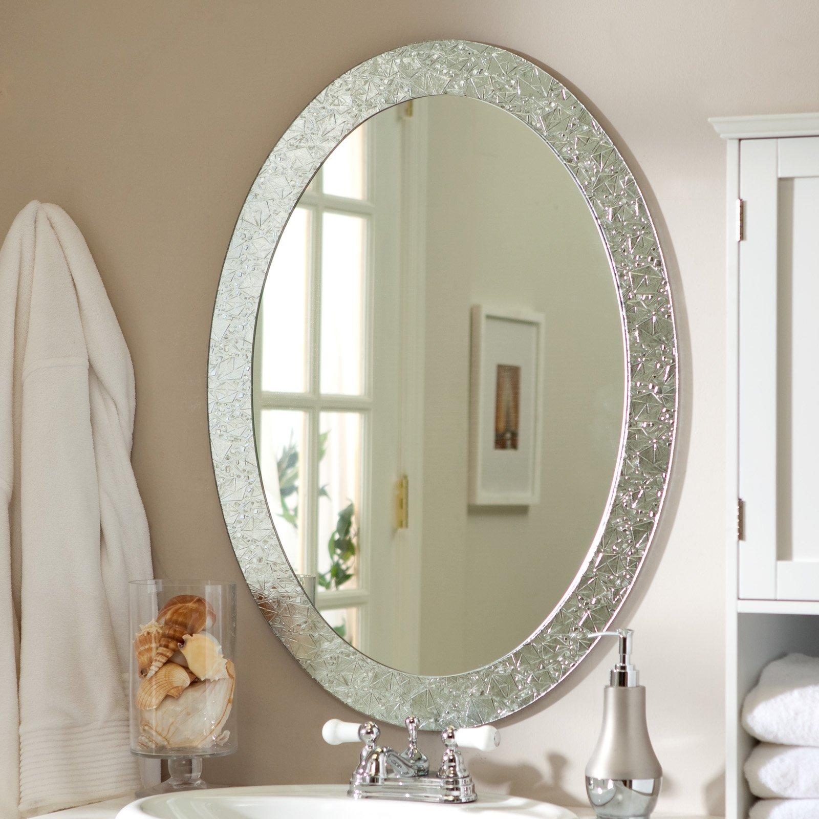 Decor Wonderland Frameless Crystal Try Mirror - 23.5W x 31.5H in.