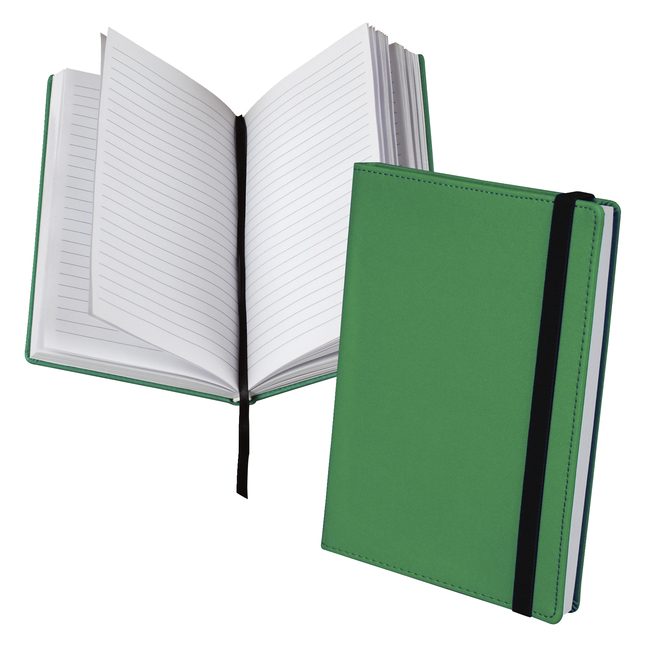 Classic Hardbound Notebook Journal, 5-1/4 x 8-1/4 Inches, Green, 120 Sheets