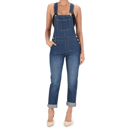 American Bazi Women's Classic Long Overalls RJHO170 - BLUE - Large - - Fireman Overalls