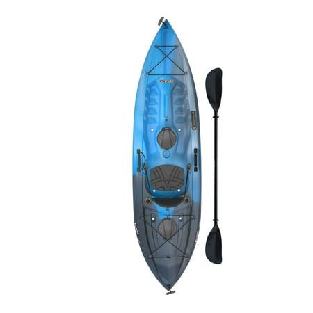 Lifetime Tamarack Angler Kayak, Blue & Black (Paddle Include) PICK UP TODAY ONLY