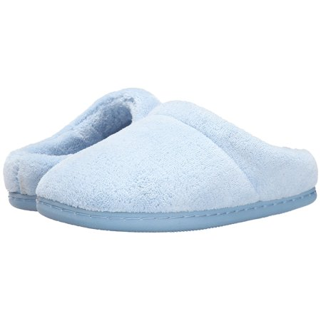 d85f5b115891 Tempur-Pedic Women s Windsock Spa Clog - Open Back Terry Cloth House  Slippers (Light Blue