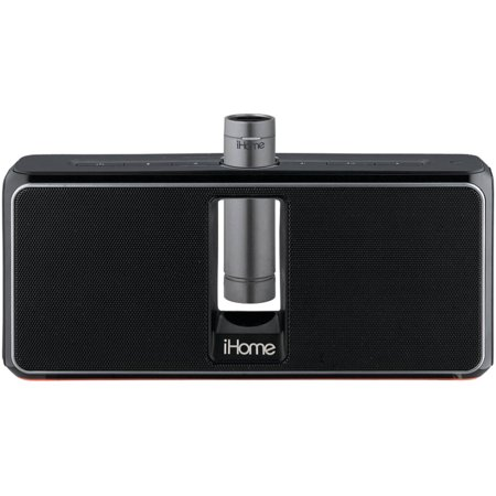 iHome Portable Rechargeable Bluetooth Stereo Speaker System with Speakerphone, NFC and Removable Battery Pack