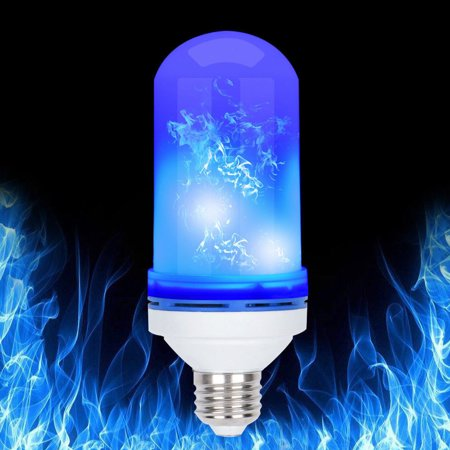 4 Modes E27 Blue LED Flicker Flame Light Bulb Simulated Burning Fire Party Home Bed Decoration