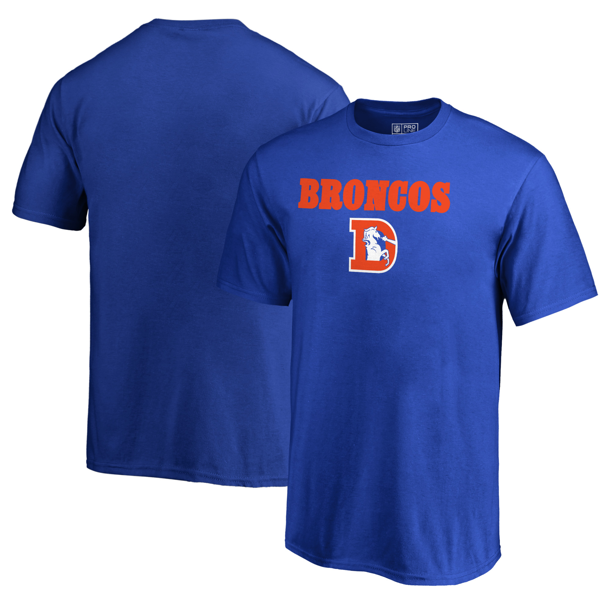 Denver Broncos NFL Pro Line by Fanatics Branded Youth Vintage Team Lockup T-Shirt - Royal