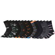 John Weitz Mens Dress Crew Trouser Premium Cotton-Blend Socks (10,15 or 30 Pack)
