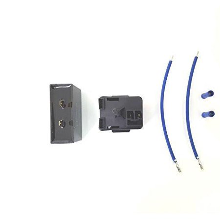 GE Kenmore Refrigerator Relay Start Device Overload and Capacitor kit UNI1901440 Fits 197D6266P001