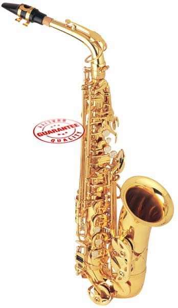 Fever Beginner Student Eb Alto Saxophone Gold with Case by Fever