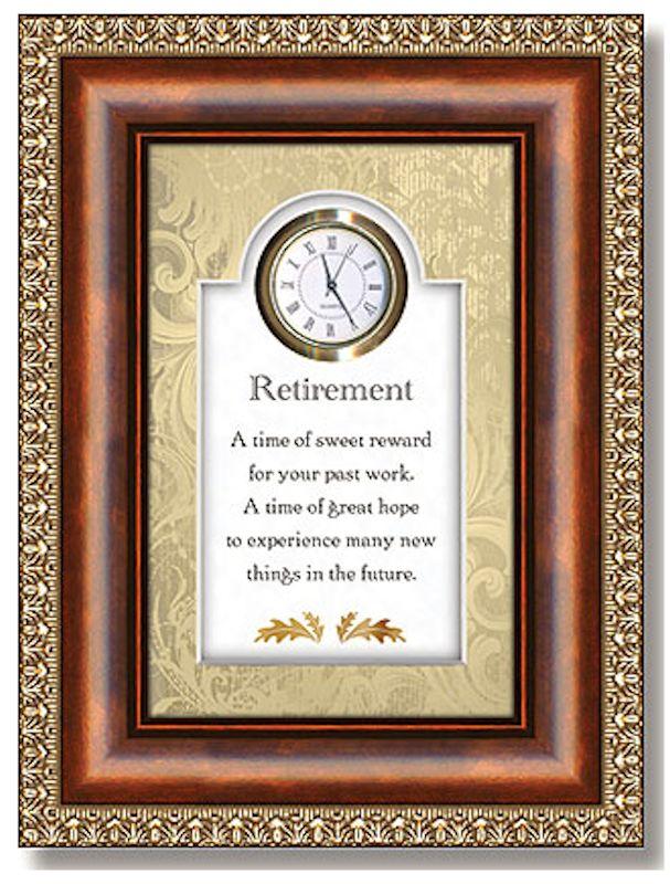 Christian Brands Heartfelt 05016 Sweet Reward Retirement Clock by Christian Brands