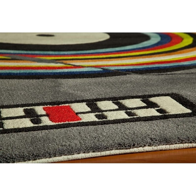 Momeni Lil Mo Hipster 4 X 6 Rug In Gray
