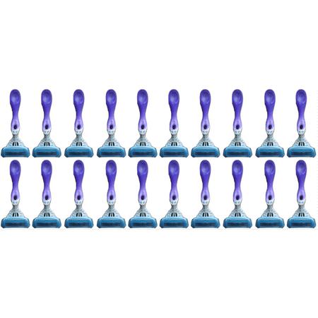 Bulls Silk - Schick Hydro 5 Blades Silk Women Disposables Razors  - Lot of 20 - Bulk Packaging
