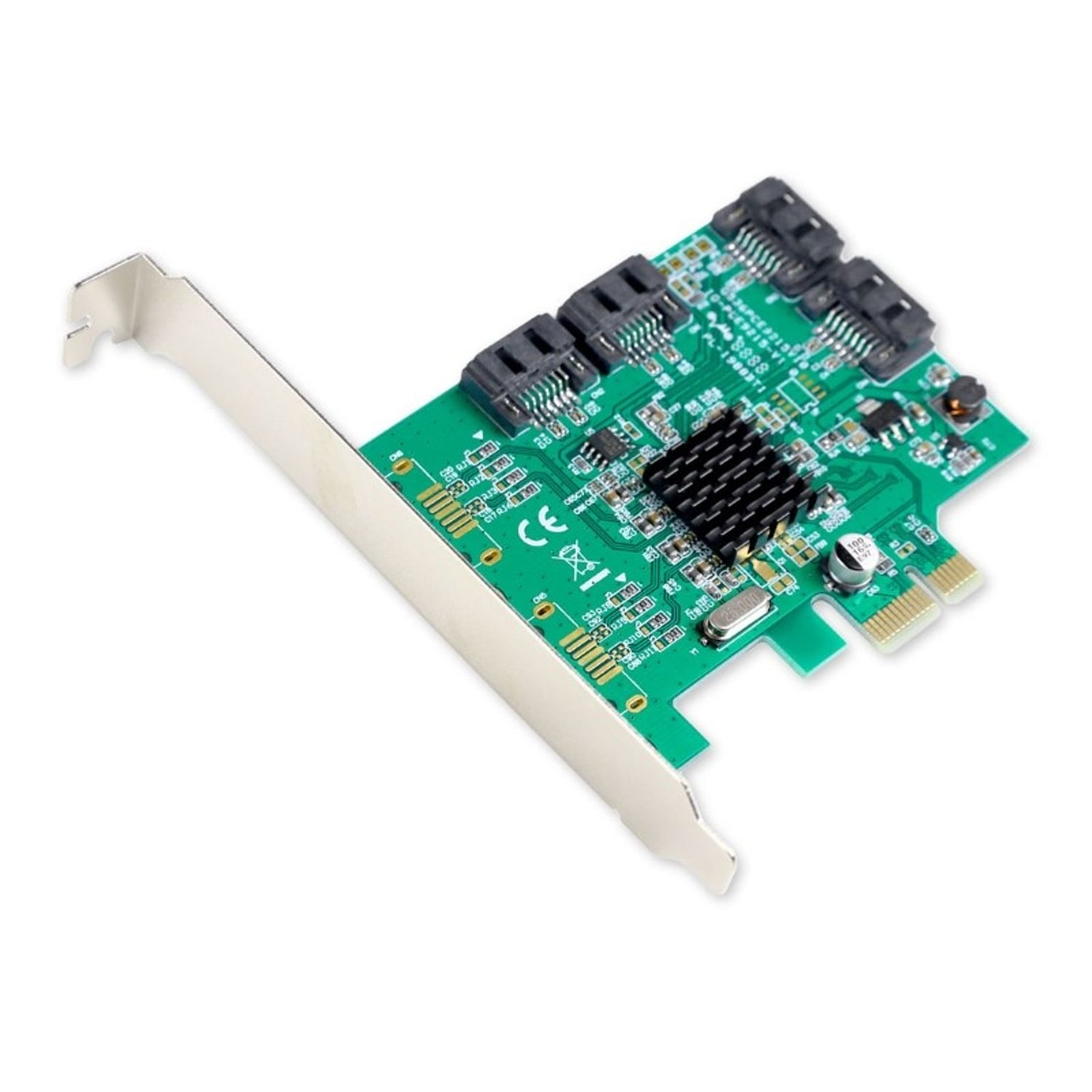 IOCrest PCIe 1 Interface 4-Port Internal SATA Controller Card 88SE9215 Chipset