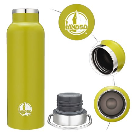 KINGSO 600ml Stainless Steel Vacuum Water Bottle with Metal buckle for Outdoor Sports, Work Trip, Home,Camping Hiking - image 1 of 9