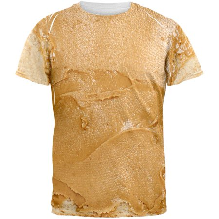 Halloween Peanut Butter PB Sandwich Costume All Over Adult T-Shirt - Sandwich Ideas For Halloween Party