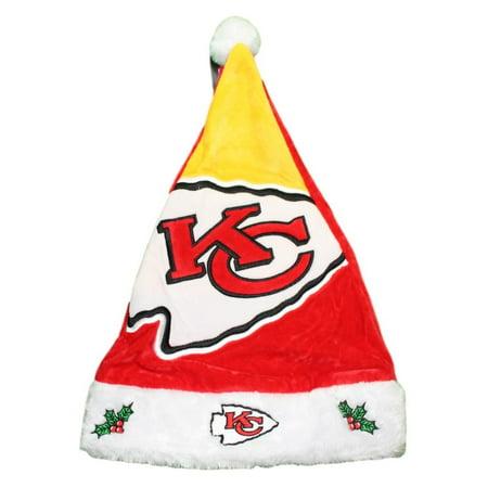b4089b7f4 Kansas City Chiefs 2018 NFL Basic Logo Plush Christmas Santa Hat -  Walmart.com