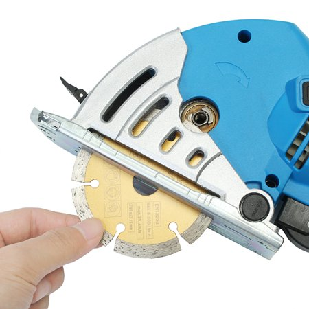 "500W Electric Circular Saw with 6 Blades(0.6""-3.4""), Laser Guide, 0-1.06"" Cutting capacity , Ideal for Glass Wood, Soft Metal, Tile and Plastic Cuts  - image 8 de 15"