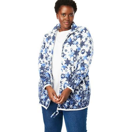 Woman Within Plus Size Zip-front Microfleece Jacket ()