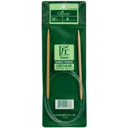 Takumi Bamboo Circular 36-Inch Knitting Needles, Size 6, Bamboo knitting needles By (Size 35 29 Inch Circular Knitting Needles)