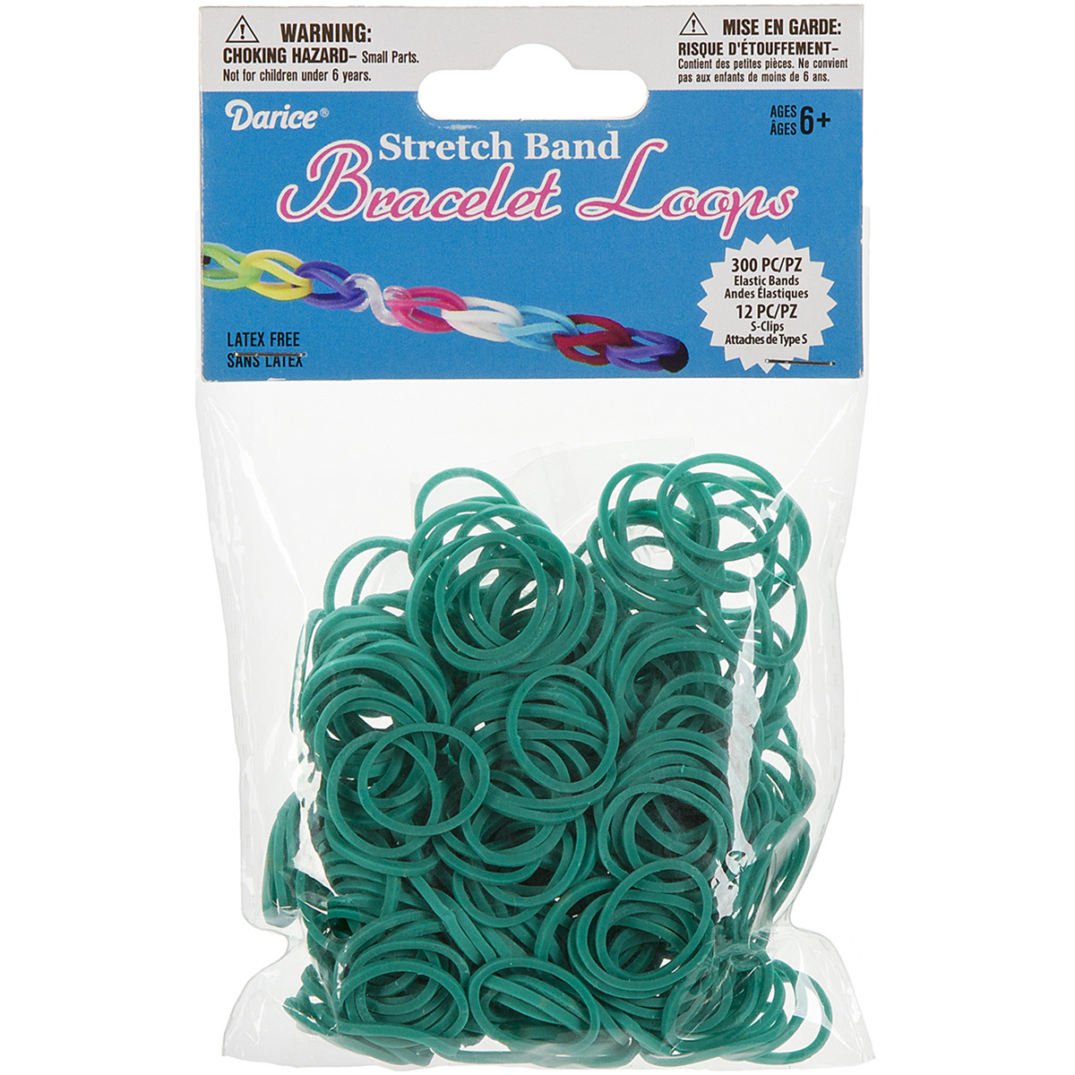 Mini Rubber Bands, 300pk, 12 Clips