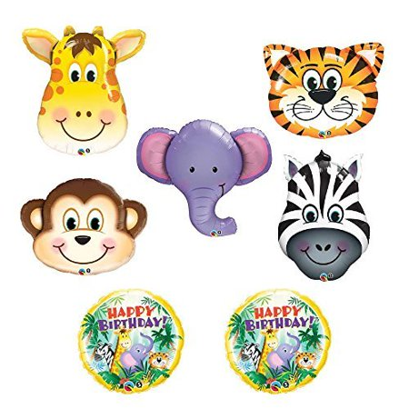 The ULTIMATE Safari Jungle Zoo Animals Jumbo Birthday Party - Jungle Safari Balloons