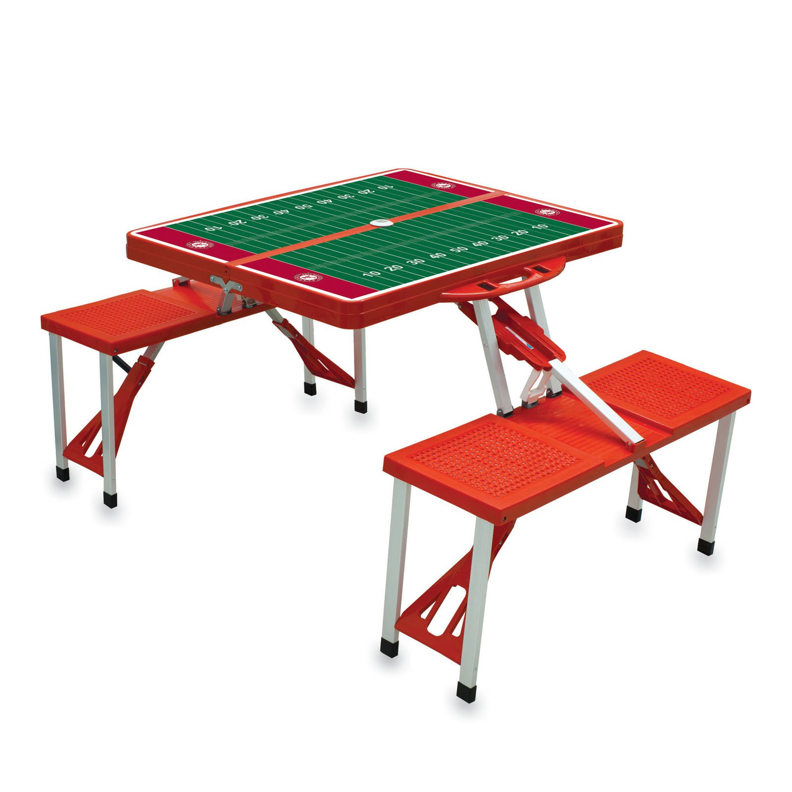 Picnic Time NCAA College Team Logo Folding Picnic Table With Playing Field