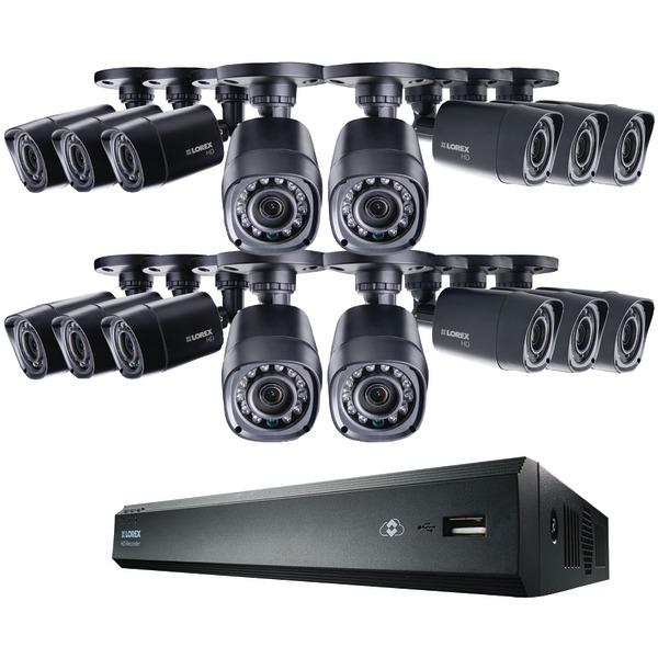 Lorex LHV00162TC16B 16-Channel MPX 720p HD 2TB DVR with 16 720p Cameras
