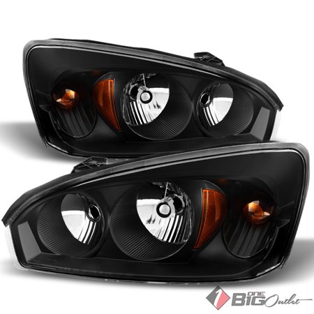 For 2004 2007 Malibu Black Housing Headlights Embly Bulbs Replacement Lh Rh Set Pair Left Right 2005 2006