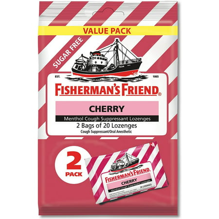 Fisherman's Friend Cherry Menthol Cough Suppressant Lozenges, 2
