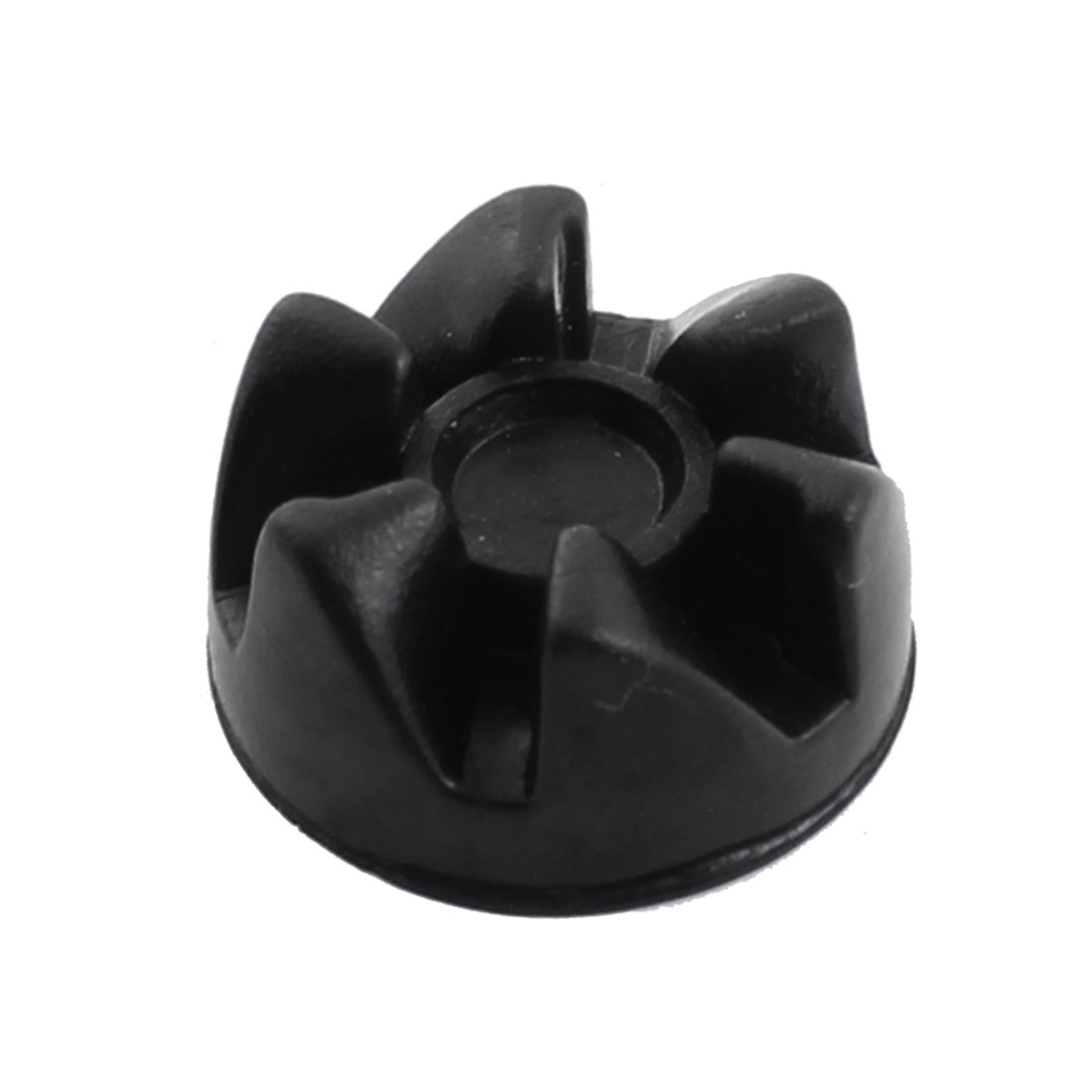 Household Electric Blender 6-Teeth Rubber Coupling Clutch 28mm x 4.5mm Black