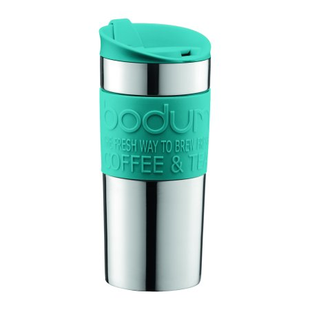 Bodum TRAVEL MUG, Stainless Steel, Double Wall, 0.35 L, 12 oz, (Bodum Stainless Steel Flask)