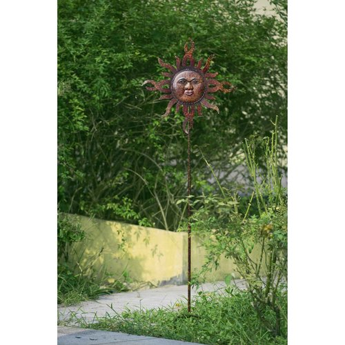 "Sunjoy 110309051 Flaming Sun Garden Stake Made of Hand Painted Metal, 59"" by SunNest Services LLC"