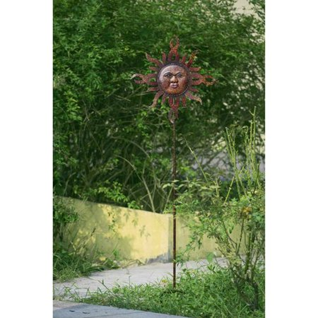 Sunjoy 110309051 Flaming Sun Garden Stake Made of Hand Painted Metal, 59